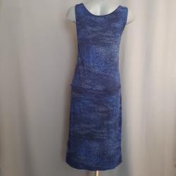 Kleid ZARI, ärmellos, Blauprint Größe 38
