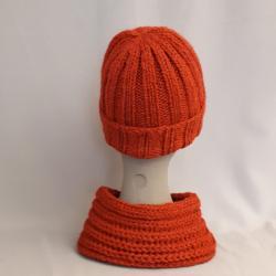 Mütze handgestrickt, rot