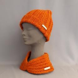 Mütze handgestrickt, orange